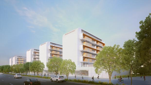 Recreación de l proyecto inmobiliario