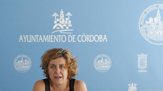 Alba Doblas, en una comparecencia en el Ayuntamiento