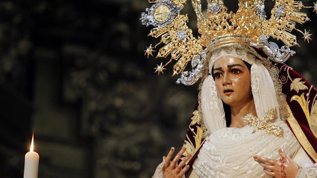 Imagen de María Santísima de la Candelaria, titular mariana de la cofradía del Huerto de Córdoba