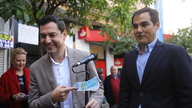 Moreno y Nieto durante la campaña electoral