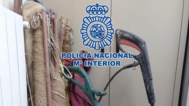 Objetos robados por los detenidos que han sido recuperados por la Policía Nacional