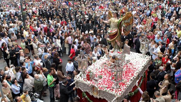 San Rafael, en su última procesión por las calles de Córdoba, el 24 de octubre de 2012