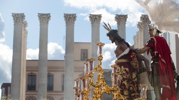 Nuestro Padre Jesús de las Penas, durante su salida procesional el Domingo de Ramos
