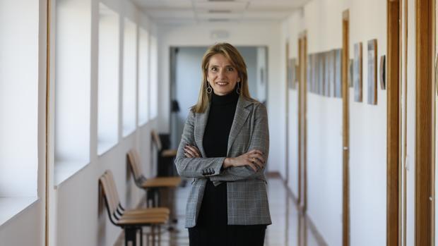 Rosa Gallardo, en la Escuela de Agrónomos