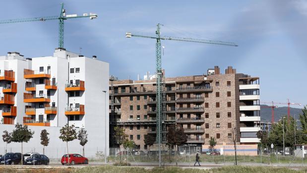 Promoción de viviendas en construcción en la zona de Poniente