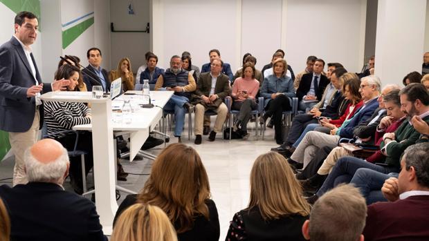 Juanma Moreno, en la reunión de la Ejecutiva Federal del partido