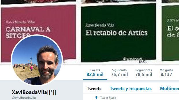 El perfil en Twitter de Xavi Boada