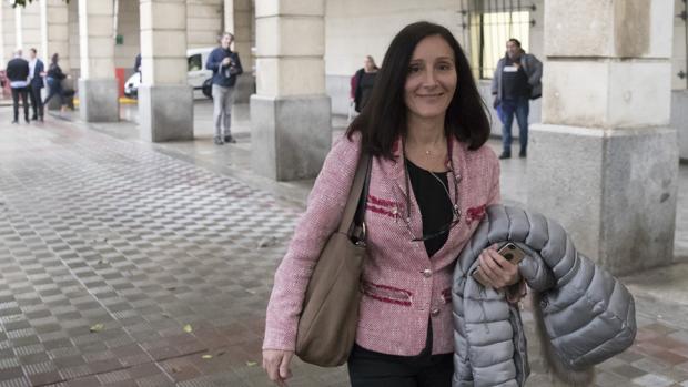 La juez María Núñez Bolaños en los Juzgados de la Audiencia Nacional de Sevilla