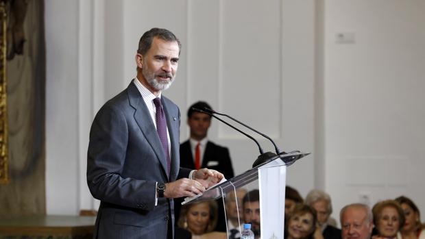 Su Majestad el Rey durante su discurso