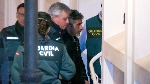 Bernardo Montoya entrando en los juzgados tras su detención por la Guardia Civil