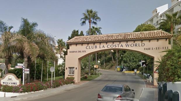 Entrada al resort donde se produjo el incidente