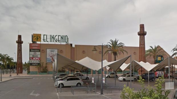 Centro comercial junto al que se ha producido el incidente en Vélez-Málaga