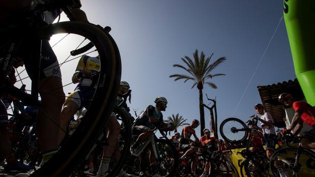 Ciclistas, este miércoles, en la primera etapa de la Vuelta a Andalucía