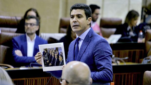 Sergio Romero, de Ciudadanos, en el Pleno del Parlamento andaluz