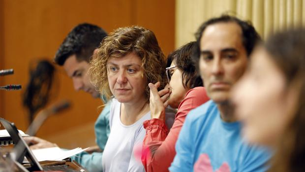Alba Doblas durante un Pleno municipal