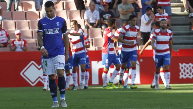 Jaime lamenta un gol del Granada