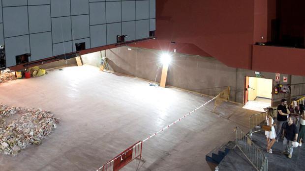 Obras de remodelación del antiguo cine Alameda para el gran teatro de Banderas