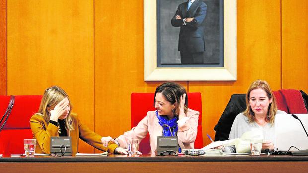 La alcaldesa, en la presidencia de un Pleno