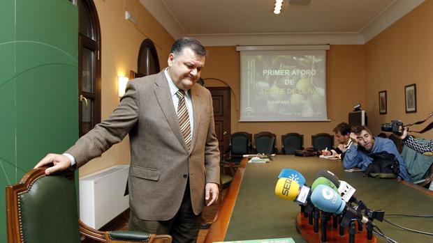 Francisco Zurera, durante una comparecencia como delegado de Agricultura en Córdoba