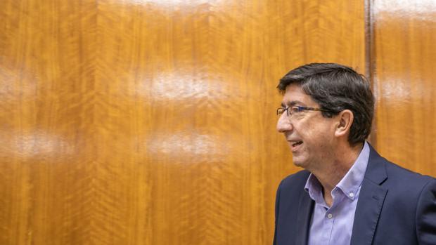 El vicepresidente de la Junta, Juan Marín, en comisión parlamentaria