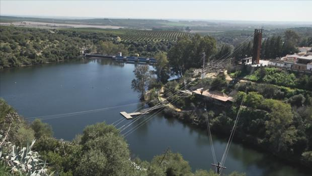 Instalaciones del parque multiaventura de Hornachuelos