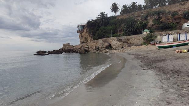 Playa de Nerja, en Málaga