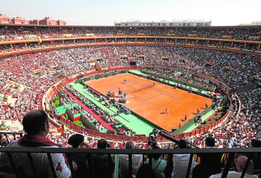 Semifinal de la Copa Davis de Tenis, celebrada en la Plaza de Toros en 2011