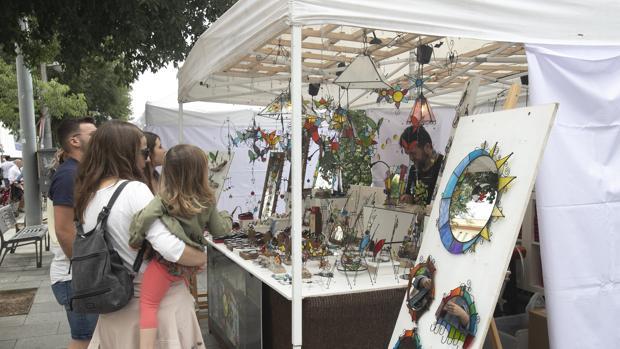 Un puesto de artesanía en Córdoba