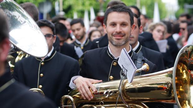 Juan Carlos Rodríguez,presidente de la banda de música Tubamirum de Cañete de las Torres (Córdoba)