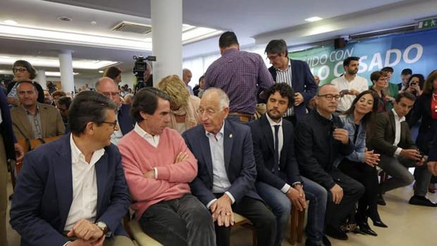 El expresidente Aznar en el acto celebrado en El Ejido junto a candidatos del PP.