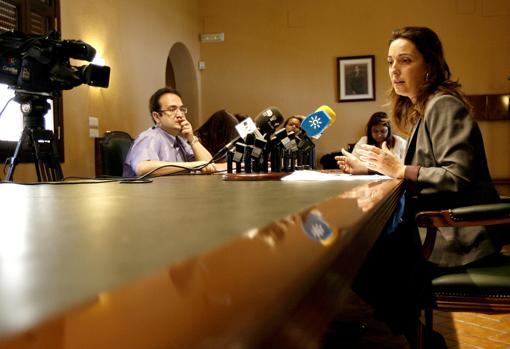 Isabel Ambrosio, en su época de delegada de la Junta en Córdoba