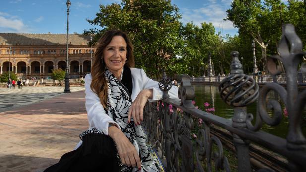 Teresa Jiménez-Becerril, en la Plaza de España