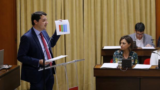 Bellido (PP) en su intervención en el debate sobre el estado de la ciudad
