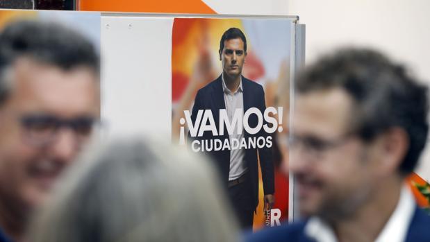 La imagen de Albert Rivera preside un acto de Ciudadanos en Córdoba