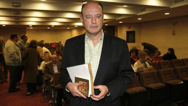 Fray Ricardo de Córdoba durante una conferencia en la sede de Cajasur de Córdoba