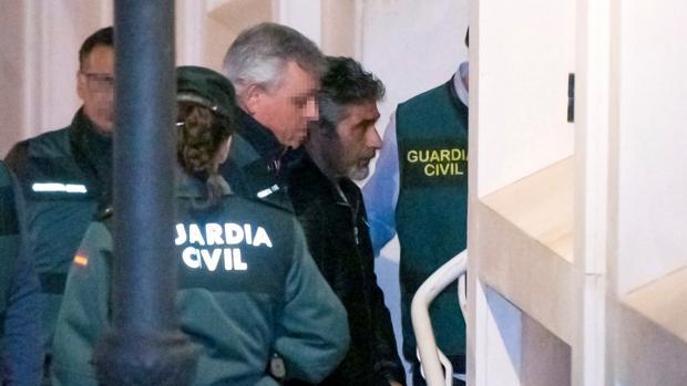 Bernardo Montoya el día de su arresto, en los juzgados de Valverde