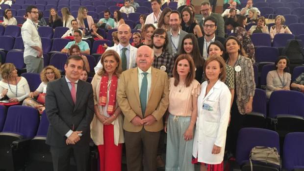 El consejero de Salud, hoy en el arranque de las Jornadas de Comunicación Sanitaria en el Reina Sofía