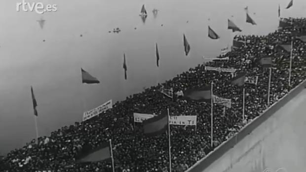 Inauguración del pantano de Iznájar