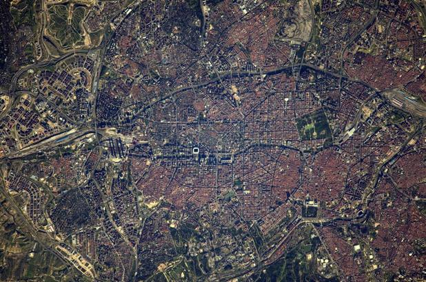 Imagen de Madrid tomada el 5 de abril por el astronauta Thomas Pesquet