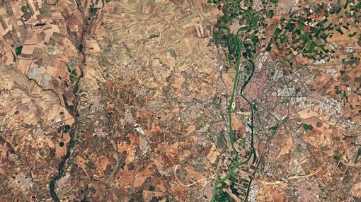 Sevilla y los alrededores, captados por el satélite Sentinel-2A