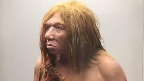 Recreación de una mujer neandertal en el Museo Arqueológico de Asturias