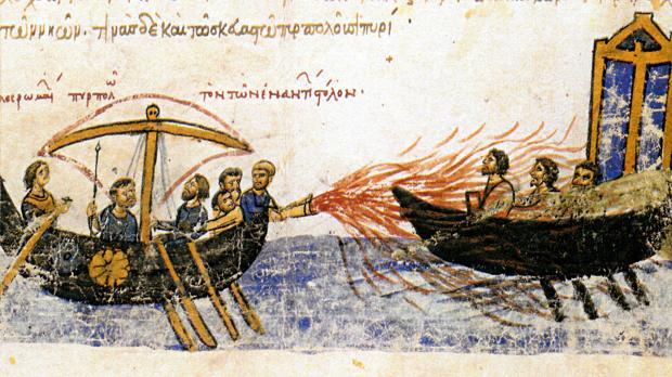 El fuego griego, la terrible arma secreta de la Edad Media que no se apagaba ni con agua