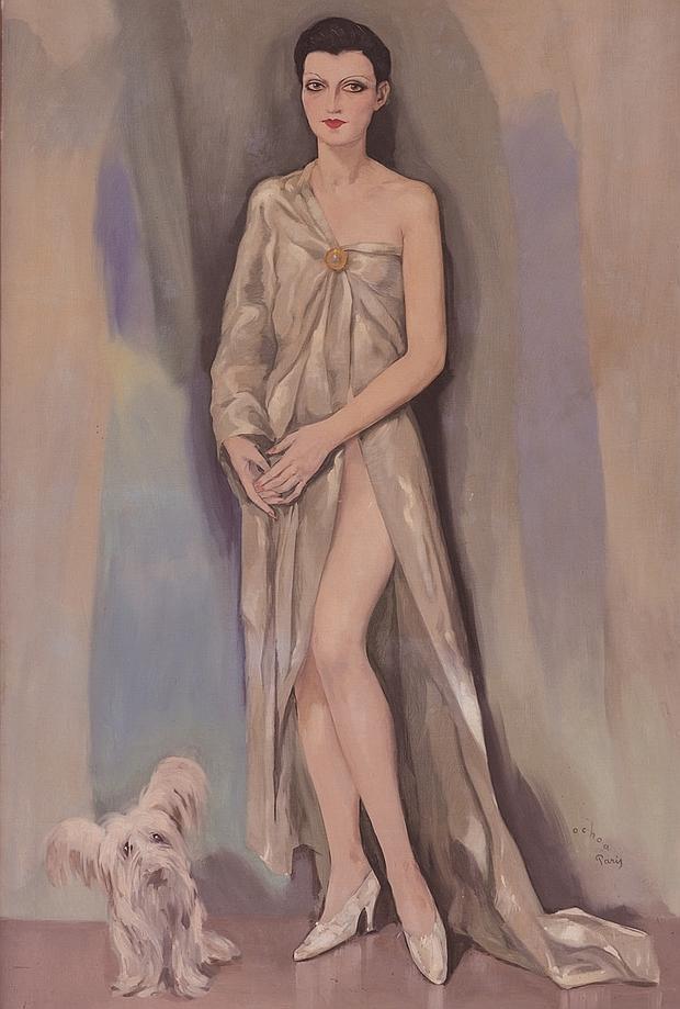 «Dama Chic (París 1929)», de Enrique Ochoa. Óleo sobre lienzo