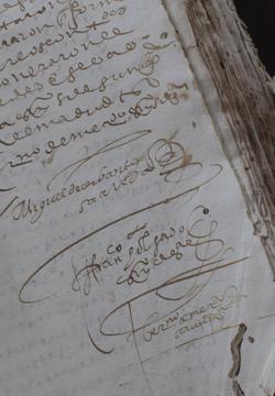 La firma del manuscrito