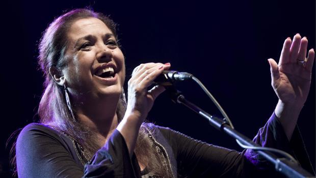 La cantaora Lole Montoya, durante una de sus actuaciones en Sevilla