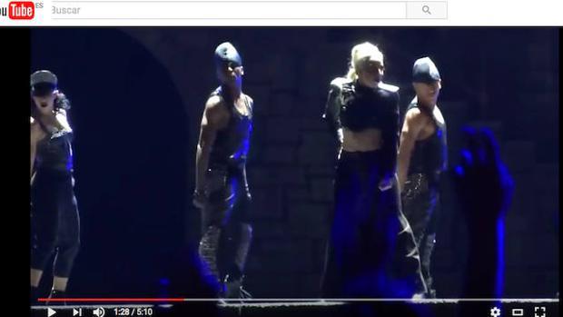 Imagen de un concierto de Lady Gaga tomada por un fan