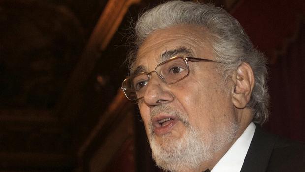 Plácido Domingo durante su intervención en la gala de la Hispanic Society en Nueva York