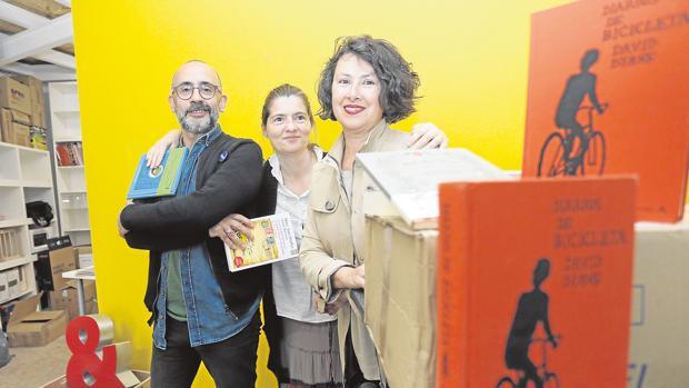 Joaquín Sovilla, Belén Torres y Maite Aragón, los tres socios de «Caótica»
