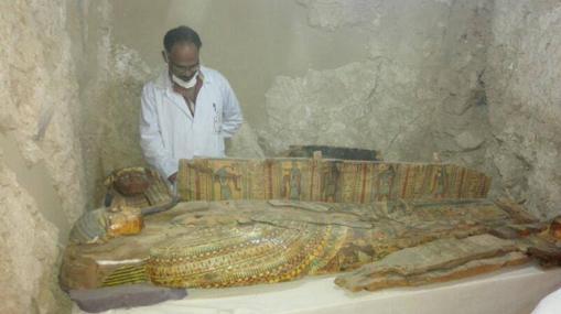 Uno de los sarcófagos hallados