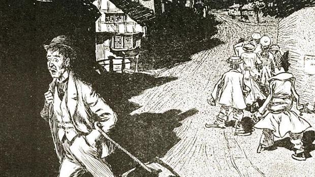Una de las magníficas ilustraciones de H. R. Millar para «El castillo encantado»